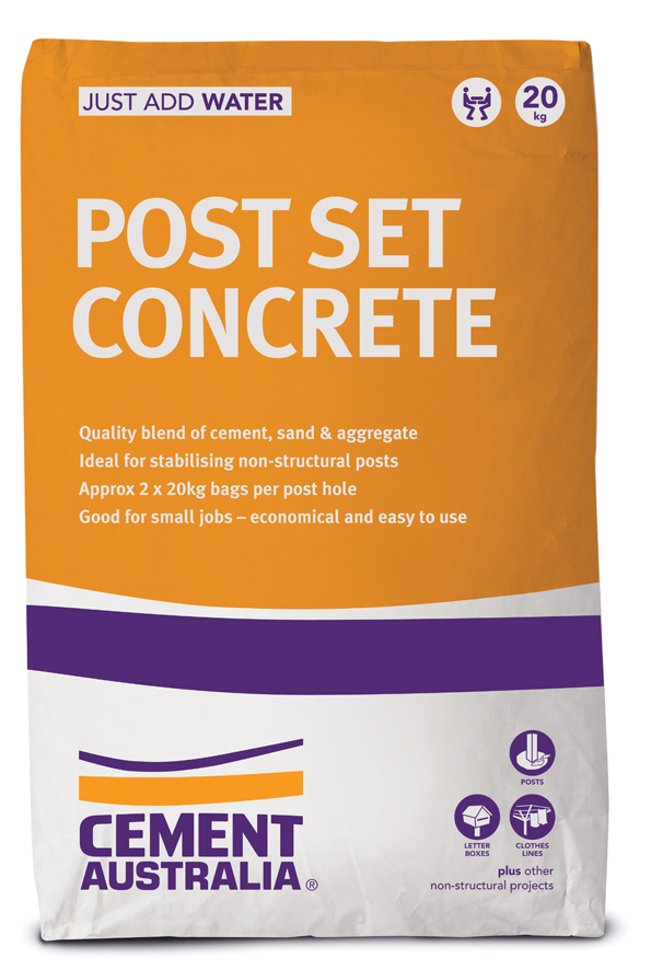 Post Set Concrete